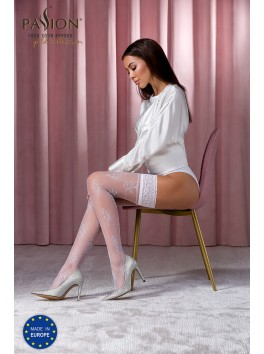 White ST118 stockings from the brand Passion Lingerie
