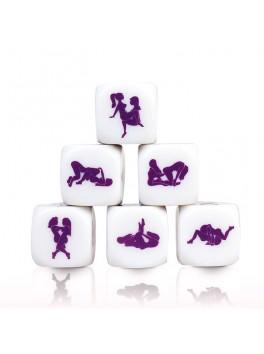 Dé érotique blanc et violet Kamasutra Lesbien de la marque Secret Play