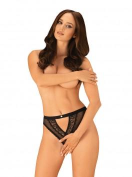Mauress crotchless Panty - Black