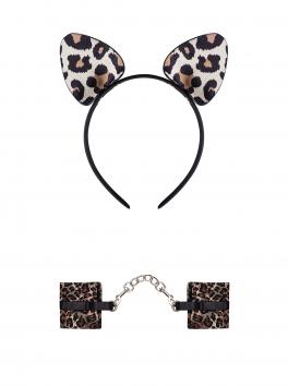 Tigerlla Handcuffs and ears - Black