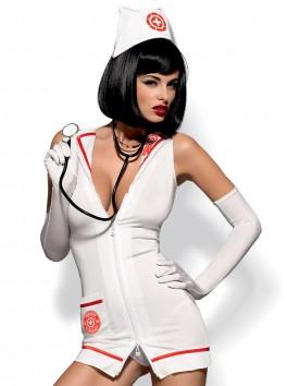grossiste Déguisement robe d'infirmiere sexy avec vrai stéthoscope