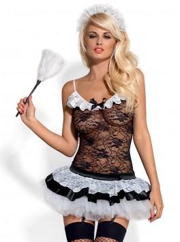 vente en gros Déguisement costume sexy dentelle guepière avec plumeau