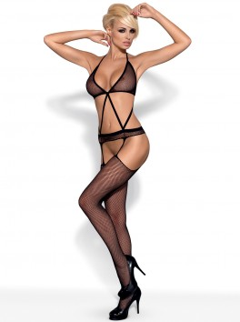 N108 Bodystocking - Black
