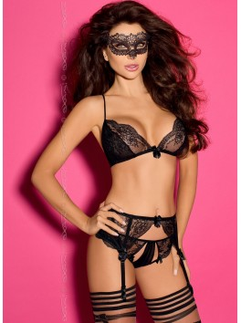 Grossiste lingerie sexy Soutien-gorge haute qualité de dentelle et bretelles réglables croisées dans le dos