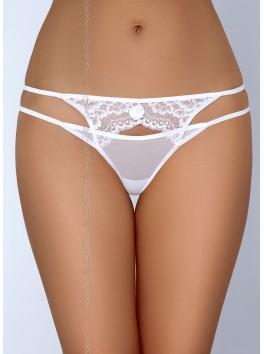 Fournisseur Axami String blanc dentelle effet double string