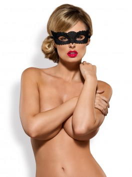 Grossiste masque : Masque souple sexy noir avec fermeture ruban