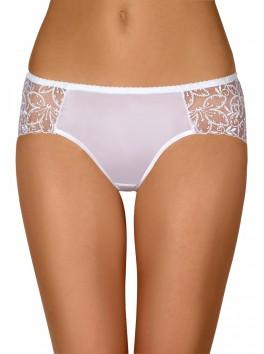 Grossiste lingerie dropshipping Culotte blanche sexy avec transparence de côtés et tissu haute qualité