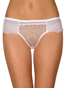 Grossiste lingerie dropshipping String blanc sexy avec transparence sur l'avant et tissu haute qualité